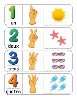 Étiquettes-mots géants-Les chiffres 1 à 12