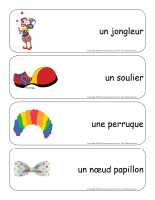 Étiquettes-mots-géants-Les clowns-2