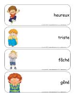 Étiquettes-mots géants-Les émotions avec Poni