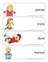 Étiquettes-mots géants-Les émotions