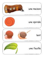 Étiquettes-mots géants-Les escargots