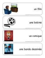 Étiquettes-mots géants-Les films