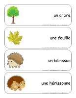 Étiquettes-mots-géants-Les hérissons