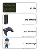 Étiquettes-mots géants-Les jeux électroniques-1