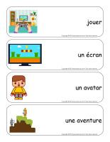 Étiquettes-mots géants-Les jeux électroniques-2