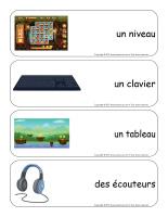 Étiquettes-mots géants-Les jeux électroniques-3
