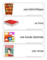 Étiquettes-mots géants-Les livres-1