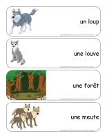 Étiquettes-mots géants-Les loups