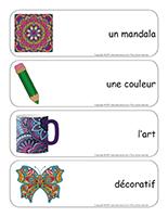 Étiquettes-mots géants-Les mandalas-1
