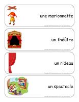 Étiquettes-mots géants-Les marionnettes