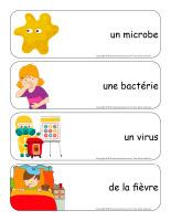Étiquettes-mots géants-Les microbes