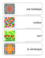 Étiquettes-mots géants-Les mosaiques