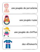 Étiquettes-mots-géants-Les poupées