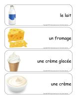 Étiquettes-mots géants-Les produits laitiers-1