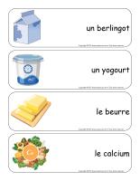 Étiquettes-mots géants-Les produits laitiers-2