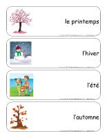 Étiquettes-mots géants-Les saisons