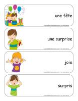 Étiquettes-mots géants-Les surprises-1
