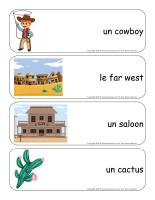 Étiquettes-mots géants-Les westerns