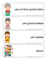 Étiquettes-mots géants-Mamans et grands-mamans