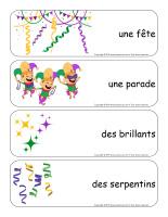 Étiquettes-mots géants-Mardi gras-2