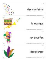 Étiquettes-mots géants-Mardi gras-3