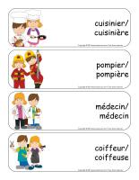 Étiquettes-mots géants-Métiers-1