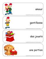 Étiquettes-mots géants-Noël-Le partage-2