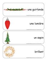 Étiquettes-mots géants-Noël-Les décorations-1