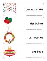 Étiquettes-mots géants-Noël-Les décorations-2