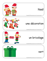 Étiquettes-mots géants-Noël-Les décorations-3