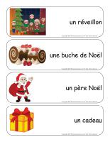Étiquettes-mots géants-Noel Traditions