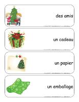 Étiquettes-mots géants-Noël-échange de cadeaux