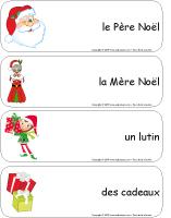 Étiquettes-mots géants-Noël