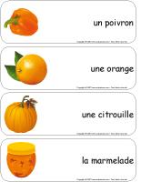 Étiquettes-mots géants-Octobre en orange