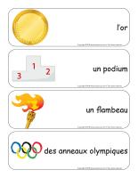Étiquettes-mots géants-Olympiades d'été-2
