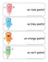 Étiquettes-mots géants-Paques-Les tons pastel
