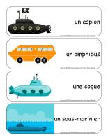 Étiquettes-mots géants-Sous-marins-2