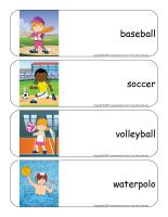 Étiquettes-mots géants-Sports d'été-2