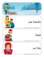 Étiquettes-mots geants-Vacances de Noel-1