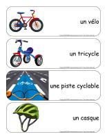 Étiquettes-mots géants-Vélos et tricycles-1
