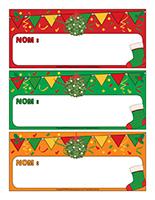 Étiquettes-noms de Noël