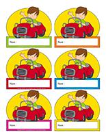 Étiquettes-noms interactives-Moyens de transport