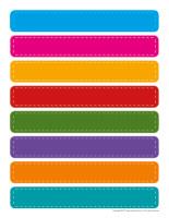 Étiquettes-pots de crayons