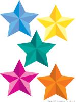 Étoiles colorées