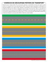Exercice de découpage-Moyens de transport
