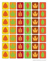 Feuilles d'automne miniatures
