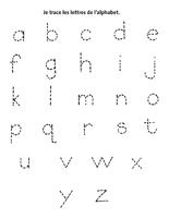 Fiche d'activité - je trace l'alphabet