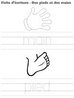 Fiche d'écriture - Des pieds et des mains