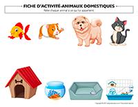Fiches d'activité-Animaux domestiques