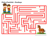Fiches d'activité-Cowboys
